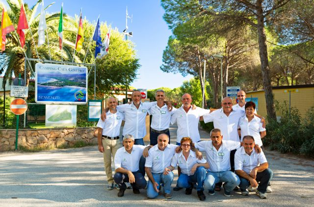 The members of the Sa Curcurica Cooperative at Camping Cala Ginepro, Orosei