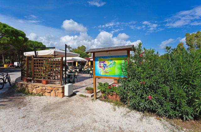 Mappa del Camping Cala Ginepro nel bar del campeggio