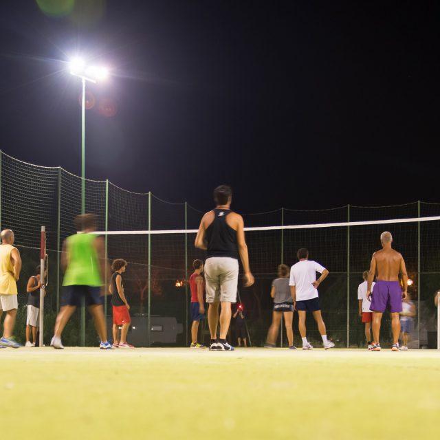 Partita di pallavolo al Camping Cala Ginepro